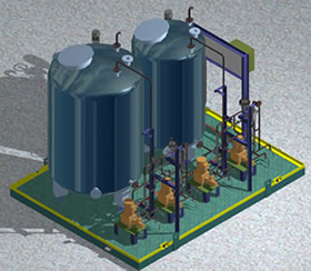 Planos de Paquete de inyeccion de quimicos para uso industrial., en Industria petrolera – Máquinas instalaciones