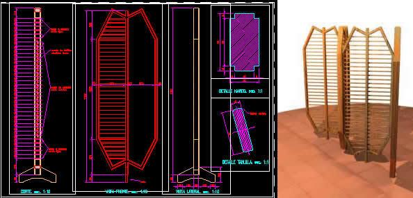 imagen Paraban - biombo, en Bares y restaurants - Muebles equipamiento