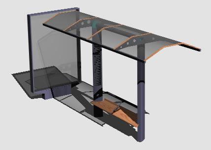 imagen Parabus 3d, en Transferencia peatón - vehículo paradores - Equipamiento urbano