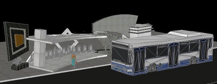 Planos de Parada de omnibus, en Medios de transporte – Proyectos