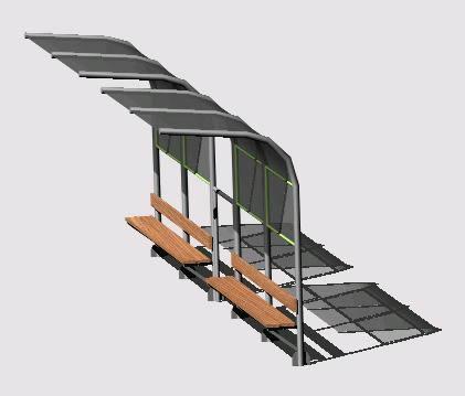 Paradero autobuses, en Transferencia peatón – vehículo paradores – Equipamiento urbano