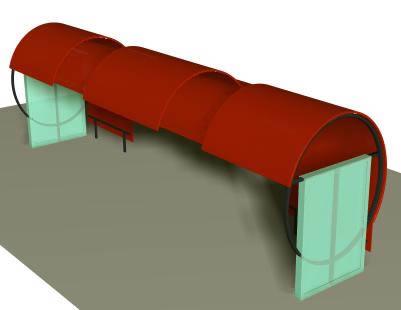 Paradero de buses 3d, en Galpones – Proyectos