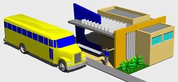Planos de Paradero – parador interurbano 3d, en Medios de transporte – Proyectos