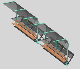 Planos de Parador 3d, en Transferencia peatón – vehículo paradores – Equipamiento urbano