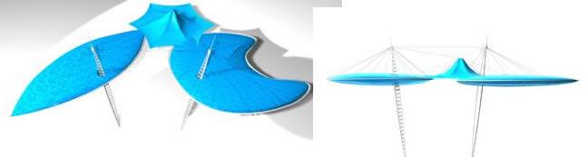 Planos de Parasoles 3d, en Equipamiento de parques paseos y plazas – Equipamiento urbano