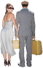 imagen Pareja con maletas, en Fotografías para renders - Personas