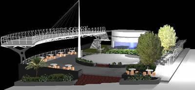Planos de Parque con terraza; explanada y cafeteria, en Centros y parques recreativos – Proyectos