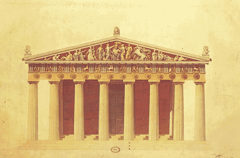 Partenon 3d, en Iglesias y templos – Historia