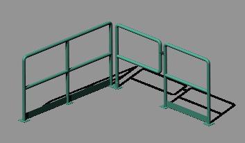 Planos de Pasamanos industrial 3d, en Barandas – Escaleras
