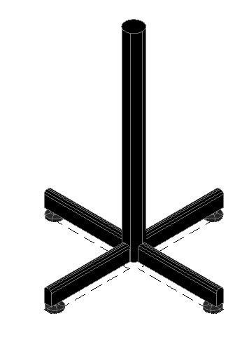 imagen Pata en cruz, en Mesas 2d - Muebles equipamiento