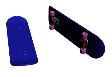 Patineta en 3d, en Juegos – Muebles equipamiento