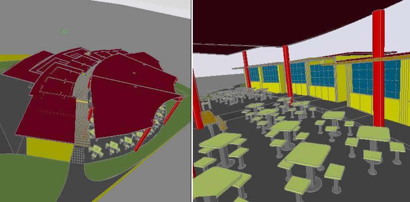 Planos de Patio de comidas, en Comedores – Proyectos