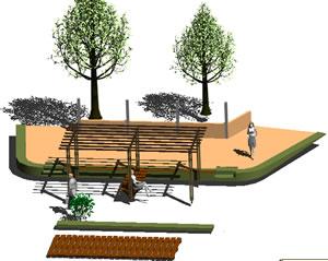 imagen Pergola panoramica, en Equipamiento de parques paseos y plazas - Equipamiento urbano