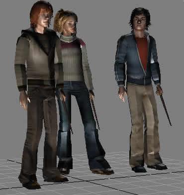 imagen Personajes de harry poter en 3d max, en 3d - Personas