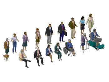 Planos de Personas 3d, en 3d – Personas