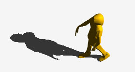 imagen Personas en 3d -  mujer caminando, en 3d - Personas