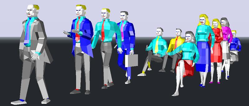 imagen Personas en 3d para render, en 3d - Personas