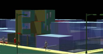 Planos de Perspectiva casa 3d, en Vivienda unifamiliar 3d – Proyectos