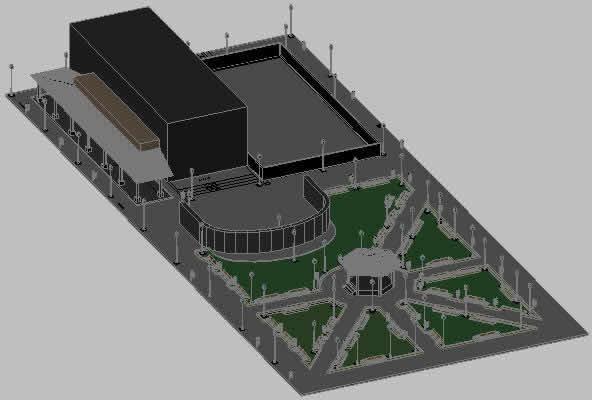 Planos de Perspectiva parque suchiapa, en Centros y parques recreativos – Proyectos