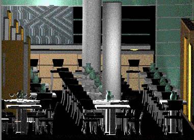 imagen Perspectiva restaurante, en Casinos hoteles y restaurantes - Proyectos