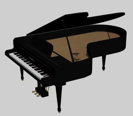 Piano en 3ds, en Instrumentos musicales – Muebles equipamiento