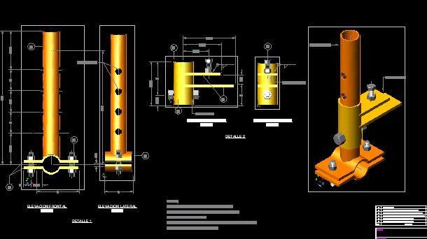 Planos de Pieza mecanica, en Industria petrolera – Máquinas instalaciones