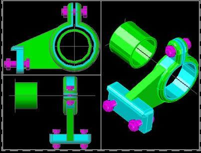 Planos de Pieza mecanica, en Válvulas tubos y piezas – Máquinas instalaciones