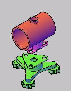 Planos de Pieza metalica 3d, en Válvulas tubos y piezas – Máquinas instalaciones