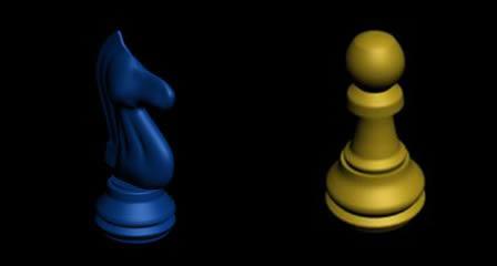 Piezas de ajedrez, en Juegos – Muebles equipamiento