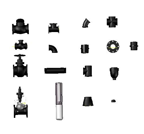 Planos de Piezas hidráulicas 3d, en Válvulas tubos y piezas – Máquinas instalaciones