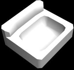 Pileta de baño 3d, en Lavatorios – Sanitarios