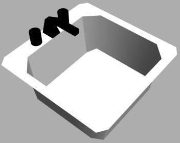 Pileta de lavadero con griferia 3d, en Lavatorios – Sanitarios
