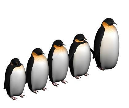 imagen Pinguinos 3d, en Animales 3d - Animales