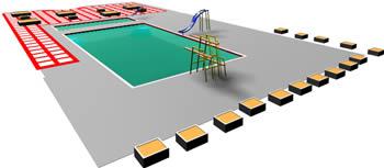 imagen Piscina club en 3d, en Proyectos - Piscinas y natatorios