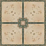 Piso ceramico esmaltado rustico color natural y virola verde, en Pisos cerámicos – Texturas