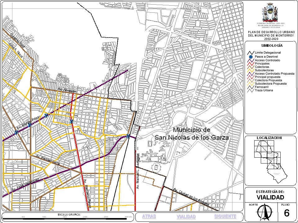 Plan de desarrollo urbano de monterrey; nuevo leon; mexico 6, en México – Diseño urbano