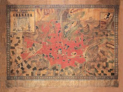 Plano de granada de 1853, en España – Diseño urbano
