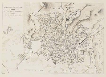 Plano de granada inicio siglo xix, en España – Diseño urbano