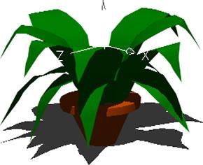 imagen Planta 3d en maceta, en Plantas de interior 3d - Arboles y plantas
