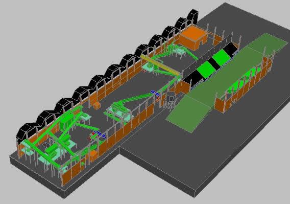 imagen Planta 3d, en Maquinaria e instalaciones industriales - Máquinas instalaciones