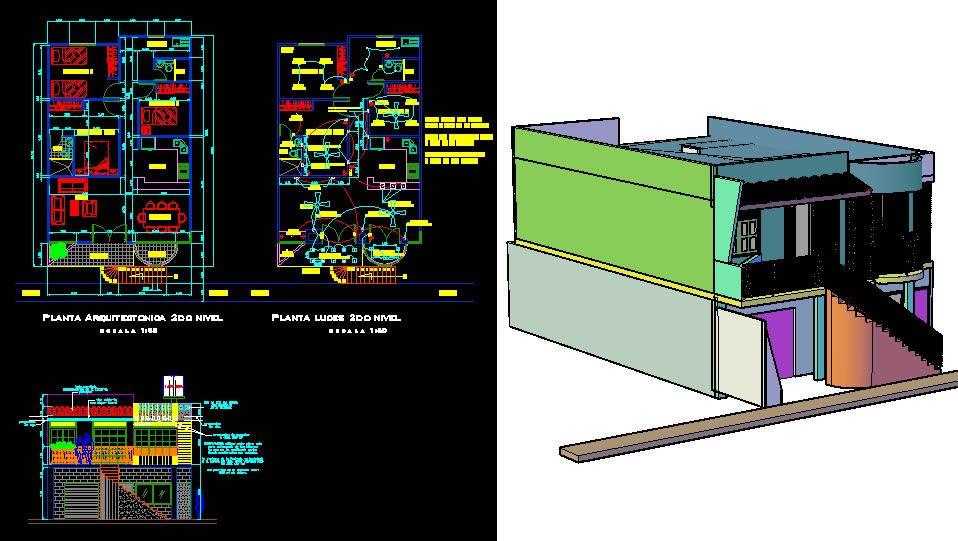 Planos de Planta arquitectonica casa, en Vivienda unifamiliar – Proyectos