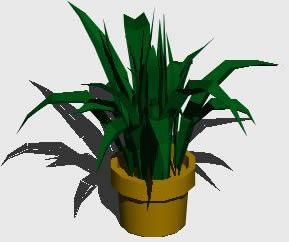 Planos de Planta con maceta 3d, en Plantas de interior 3d – Arboles y plantas