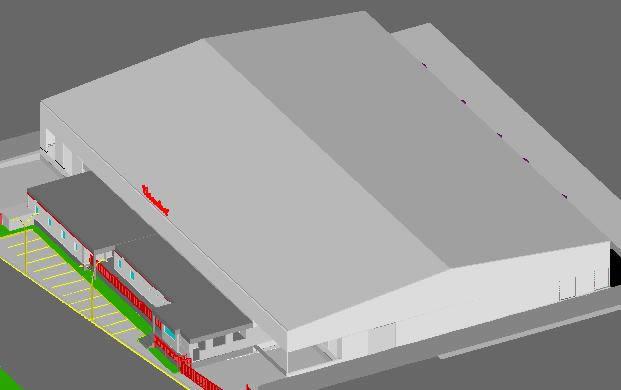 Planos de Planta coroplast mexico, en Plantas industriales – Proyectos