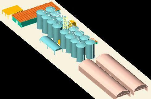 Planos de Planta de acopio 3d- servel ingenieria s, en Silos y depósitos de granos – Granjas e inst. agropecuarias