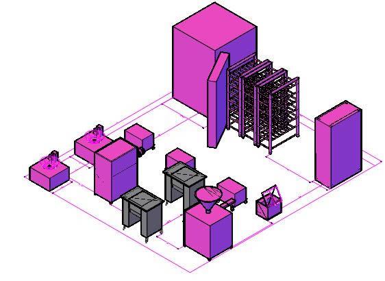 Planos de Planta de embutidos 3d, en Construcciones especiales – Granjas e inst. agropecuarias