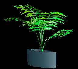 Planos de Planta de interior en maceta 3d, en Arbustos en 3d – Arboles y plantas