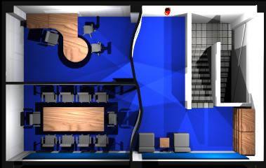Planos de Planta de oficina en 3d, en Oficinas bancos y administración – Proyectos