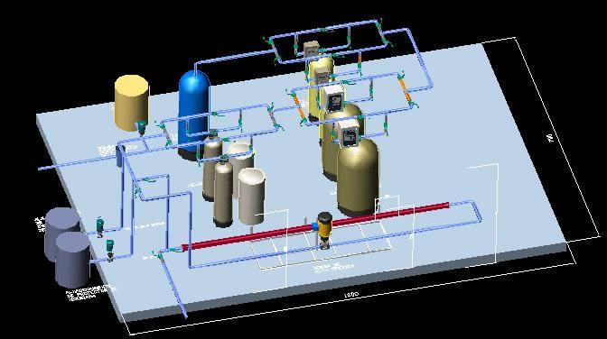 Planos de Planta de purificación de agua, en Plantas depuradoras – Infraestructura