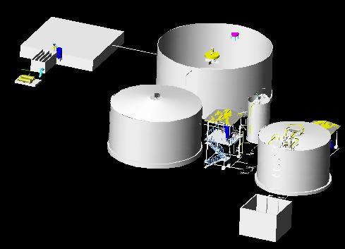 Planos de Planta de tratamiento de aguas residuales, en Plantas depuradoras – Infraestructura