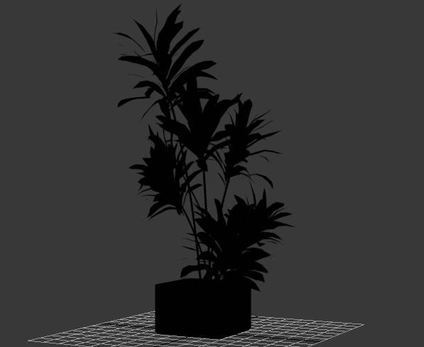 imagen Planta en maceta 3d, en Arbustos en 3d - Arboles y plantas